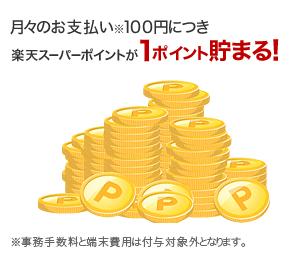 100円1ポイント貯まる
